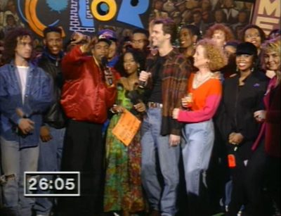 The cast of In Living Color introducing the Super Bowl Halftime Party