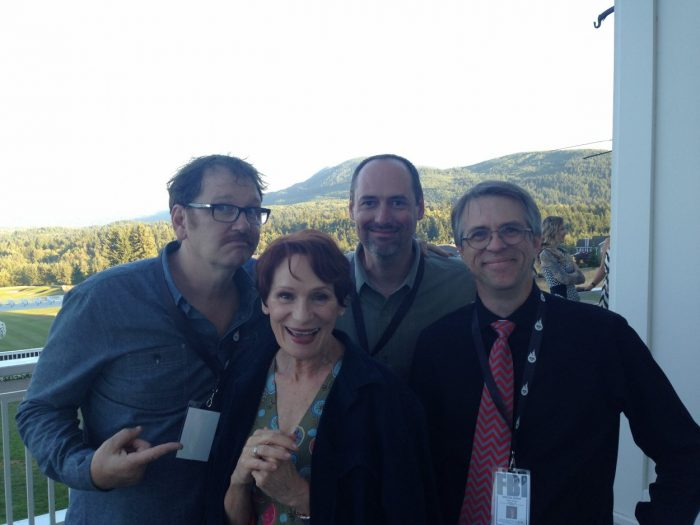 Scott Ryan, John Thorne of The Blue Rose, with Wendy Robie and John Pirruccello of Twin Peaks fame.