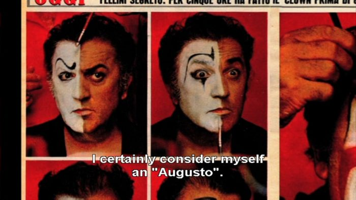 fellini considers himself an Augusto clown