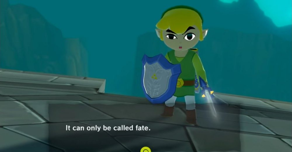 Link wields the Master Sword