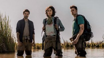 Ben, Pria, and Will stand in the titular Marshes