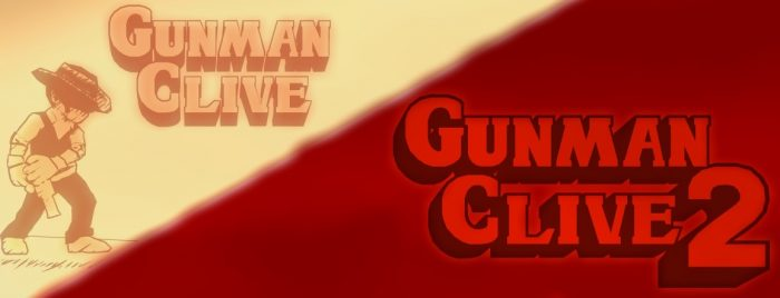 Gunman Clive HD Collection title screen with Clive