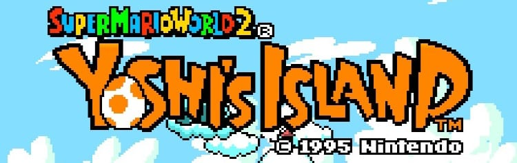 Super Mario World 2: Yoshi's Island title logo