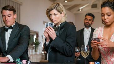 The Doctor plays cards in Spyfall