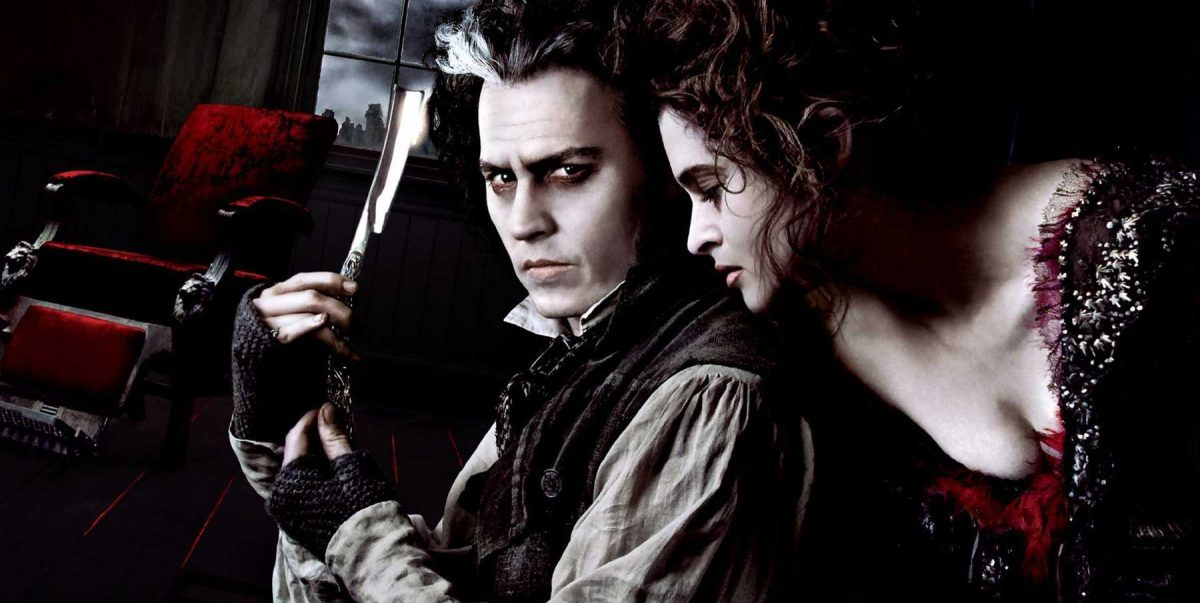 Johnny Depp and Helena Bonham Carter in Sweeney Todd poster