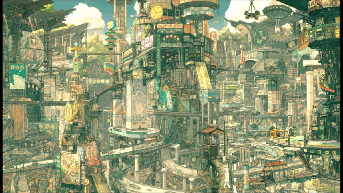 The sprawling metropolis of Tekkonkinkreet