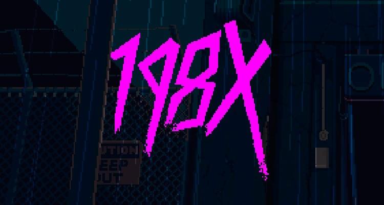 198X Title font, pink graffiti