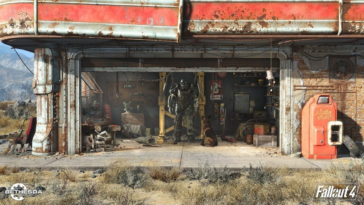 Abandoned gas station in Fallout 4