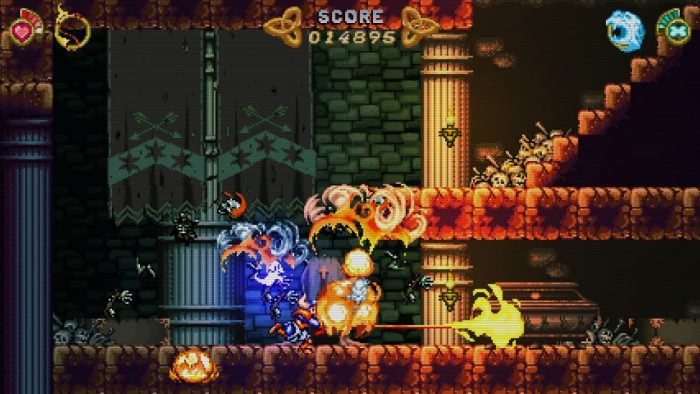 A screenshot from Battle Princess Madelyn shows bright, lush animation and visuals.