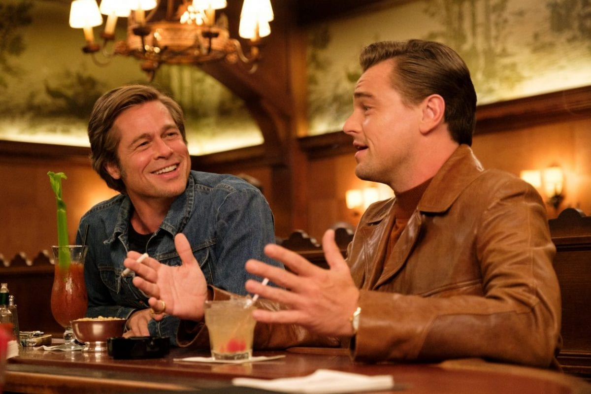 Brad Pitt and Leonardo Dicaprio in Once Upon in Hollywood