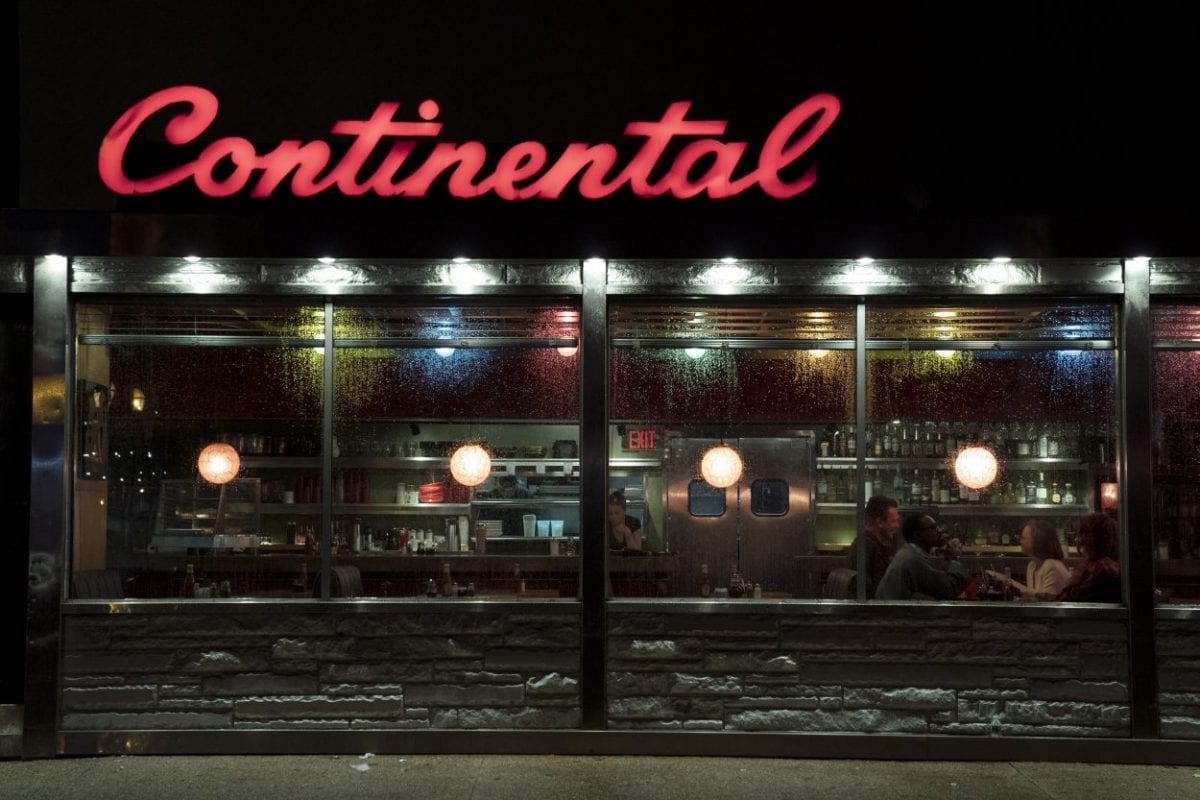 An exterior shot of the Continental diner