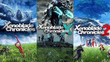 The Xenoblade Chronicles series cover art.