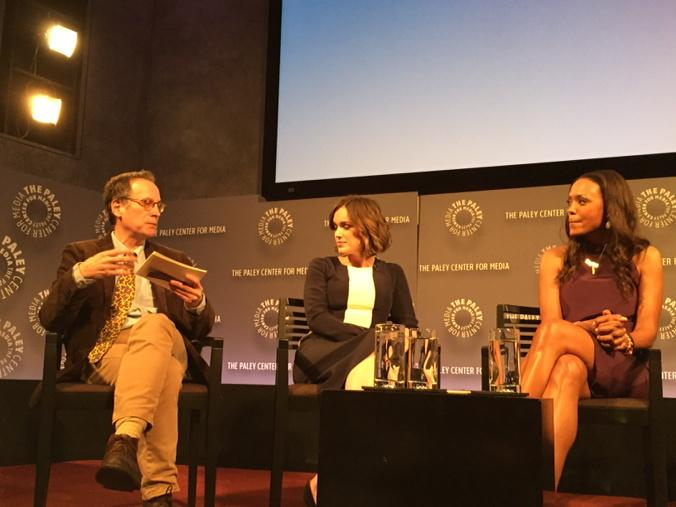 David Bushman interviewing Elizabeth Henstridge at the Paley Centre