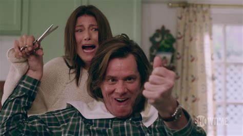 Deidre screams as she prepares to cut Jeff's hair