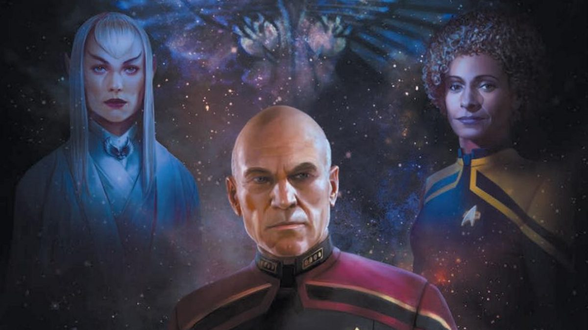 Picard S1E2 - Image from the cover of Countdown Issue #3, showing Picard, the Romulan governor and Raffi