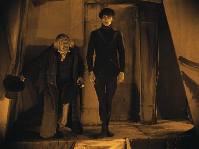 Dr. Caligari presenting Cesare