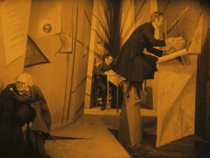 Caligari waiting for the town clerk