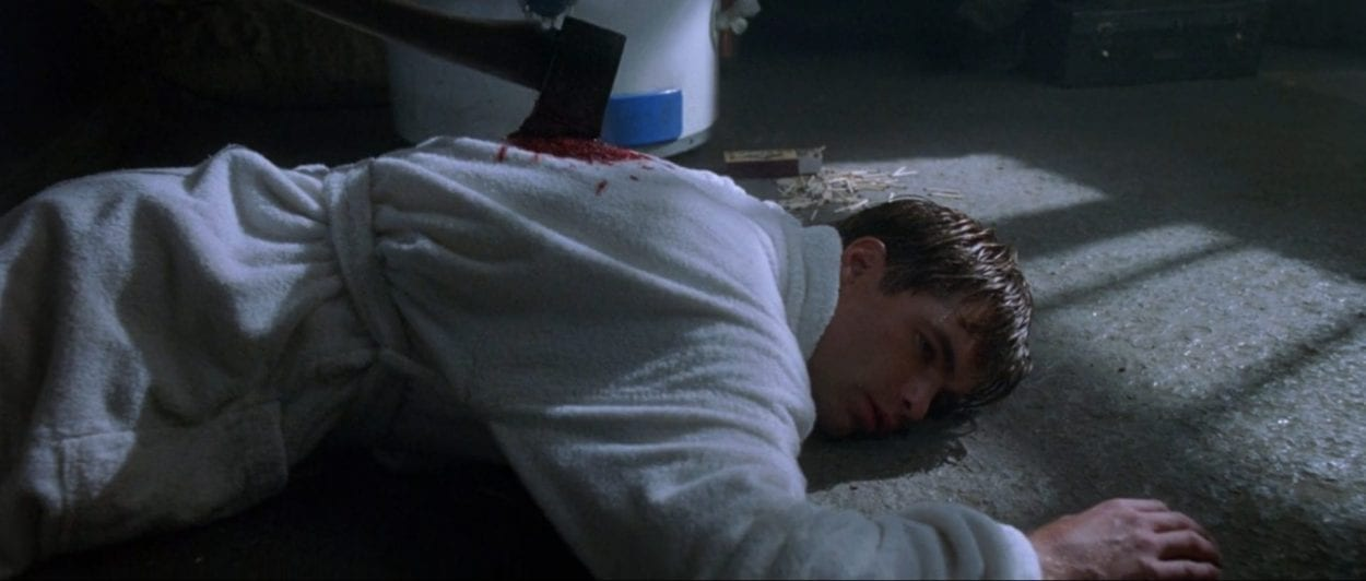 The character Campbell dying in the most uncreative way.