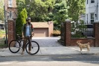 THe Guy discovers a dog near his bike
