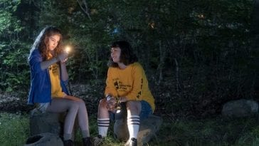 Charlie and Hanni smoke pot in the woods