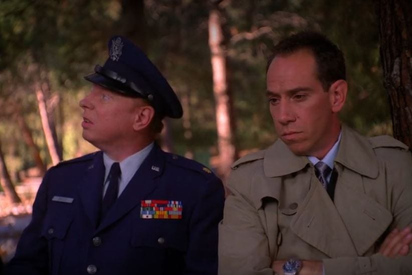 Major Briggs in uniform next to Albert