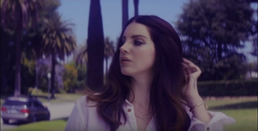 "Lana Del Rey looks left in the video for ""Shades of Cool"""