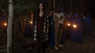 Simone, Fredwynn, Janice and Peter encounter a group wearing robes