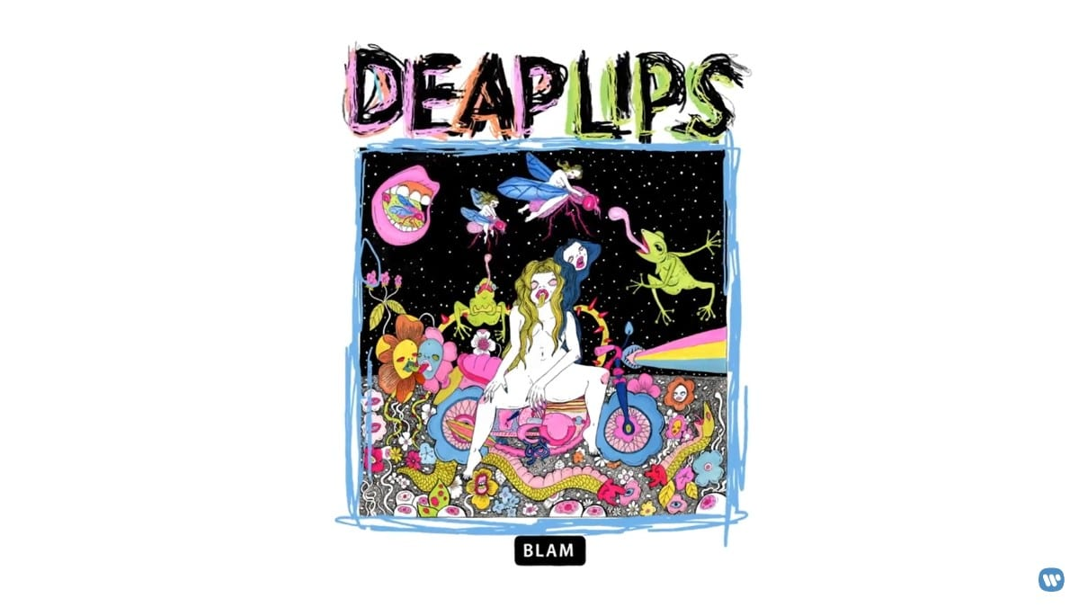 The psychedelic album art for Deap Lips album