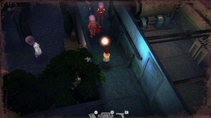 Several zombies approach in Heaven Dust.