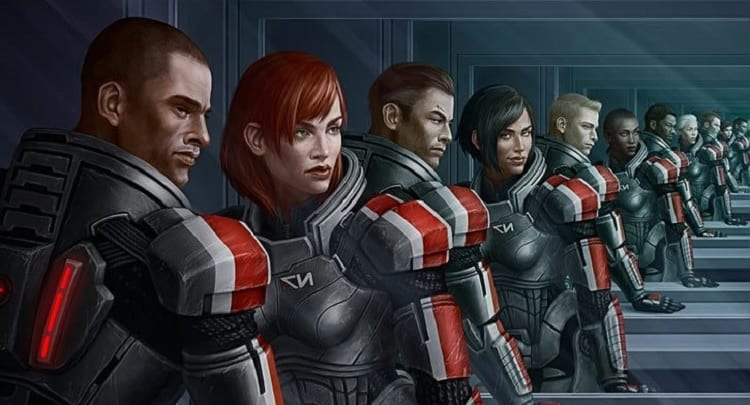 Mass Effect's cast of characters line up