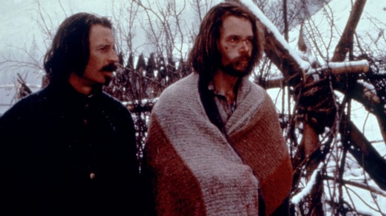 Guy Pearce and Robert Carlyle in the American wilderness in Ravenous