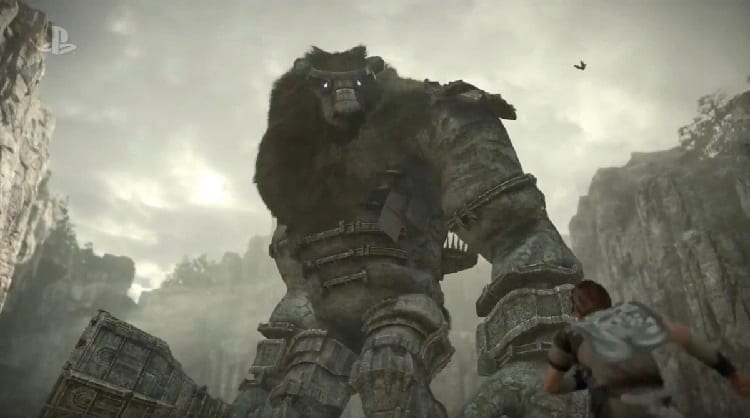 A ground level view of a Colossi