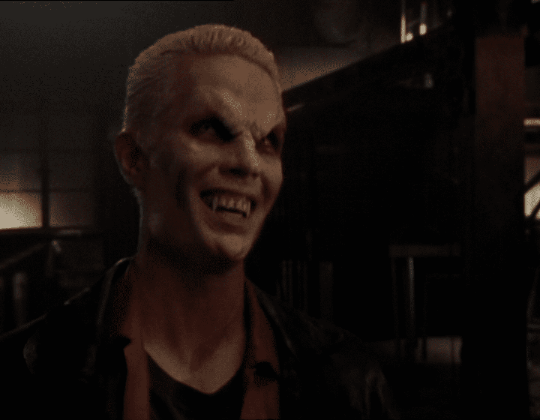 Spike laughs while vamped out