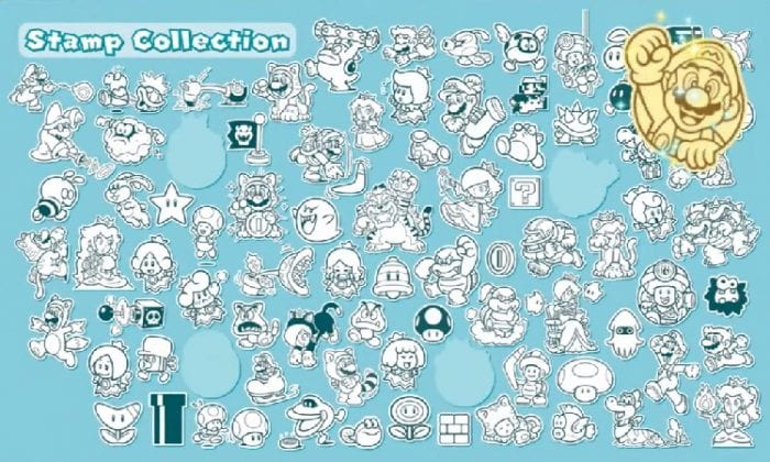 Super Mario 3D World stamp collection