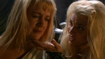 A grief-sticken Gabrielle is taunted by Callisto