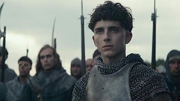 Timothee Chalamet as King Henry V