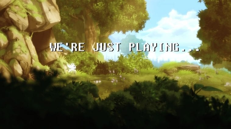 We're Just Playing... title