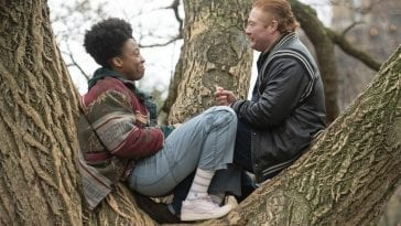 AJ and Landon in a tree