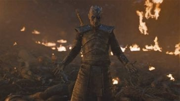 The Night King on the battlefield in Game of Thrones