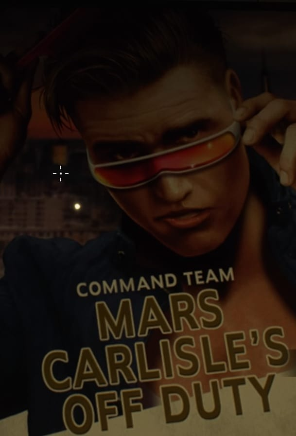 Poster for the fictional movie, Mars Carlisle's Day Off, featuring a Justin Bieber looking star.
