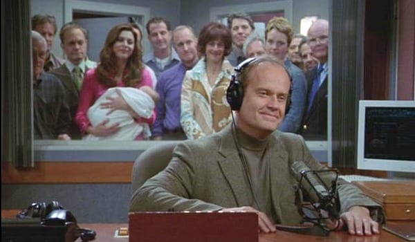 Frasier takes on another new beginning after he concludes his radio show with Alfred Tennyson's Ulysses.