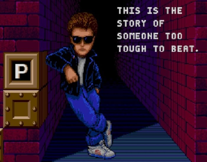 """Kim Chameleon, a """"cool dude"""" in a leather jacket, sunglasses, jeans, and sneakers."""
