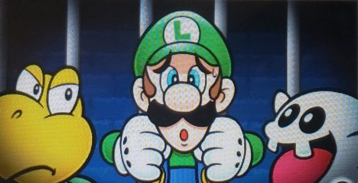 Luigi trapped in jail with enemies