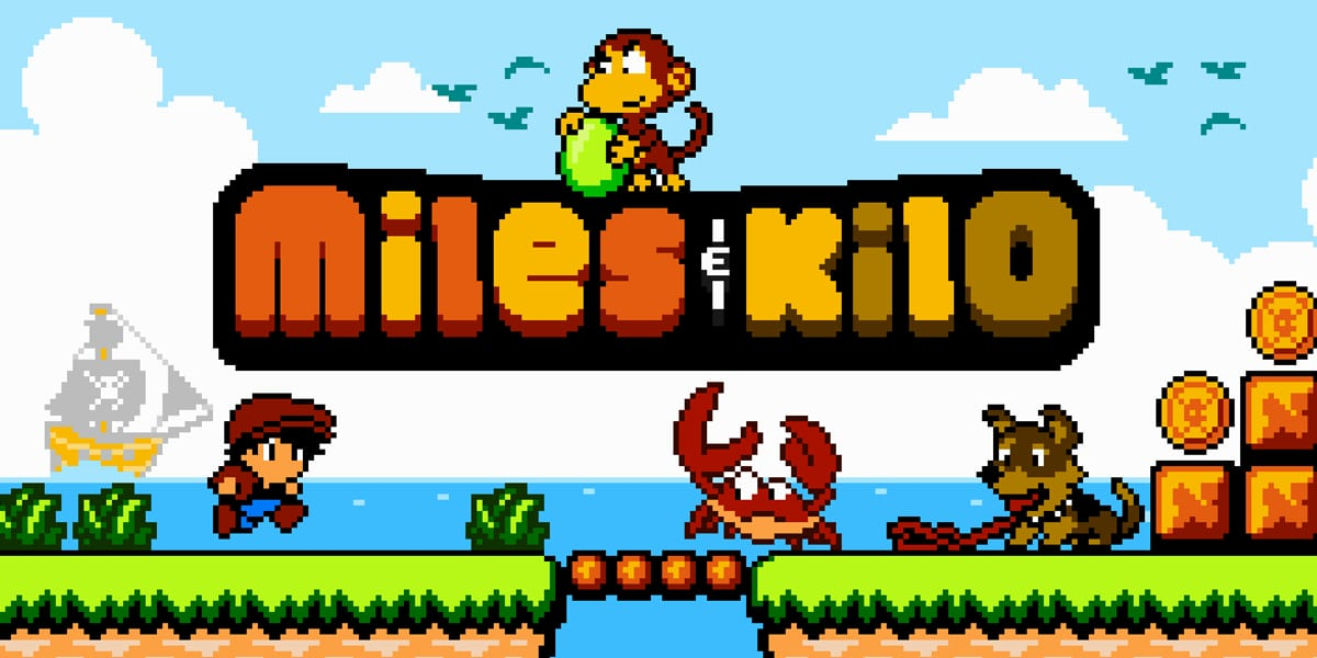 Miles & Kilo videogame title screen