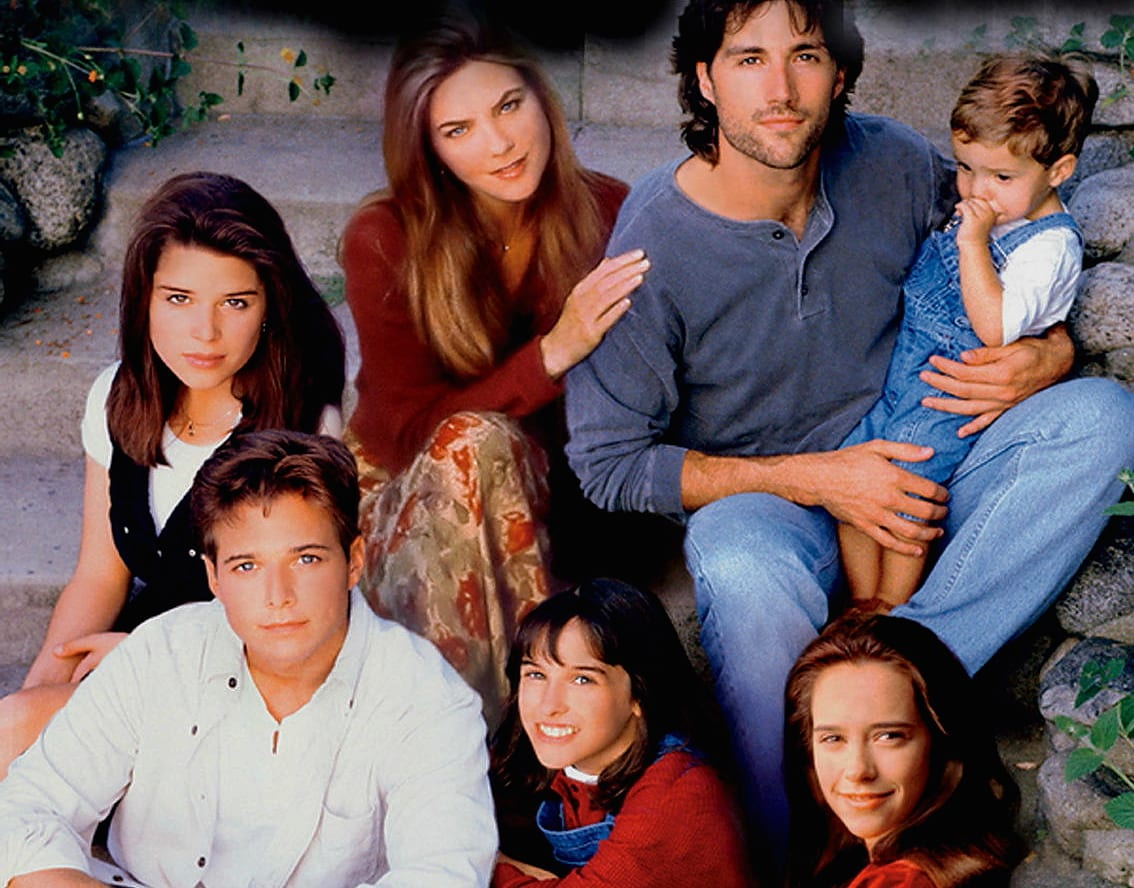 The cast of Party of Five face the camera