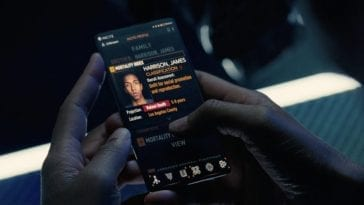 A mobile phone showing just one ordinary citizen's social profile