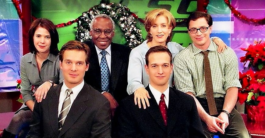 The cast of Sports Night in a promo shot