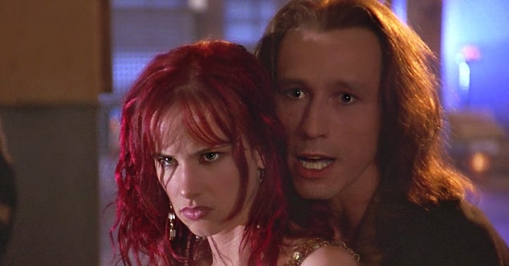 Juliet Lewis and Michael Wincott in Strange Days