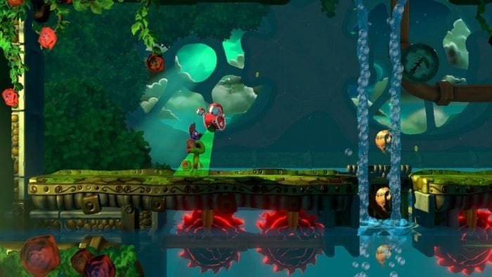 Yooka and Laylee platform their way through lush and colorful worlds.