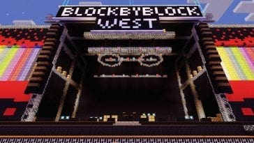 Block By Block West Minecraft stage